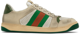 Gucci White Screener Sneakers