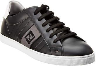 Fendi Low-Top Leather Sneaker