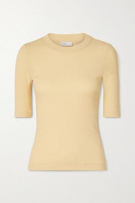 Rosetta Getty Cotton-jersey T-shirt - Pastel yellow