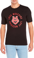 Love Moschino Circle Logo Tee