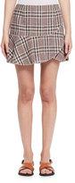 Isabel Marant Jevil Asymmetric Plaid Skirt, Light Beige