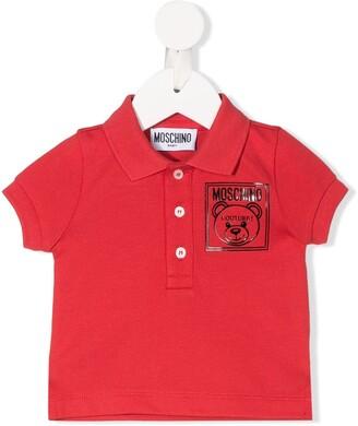 MOSCHINO BAMBINO Teddy Bear print polo shirt