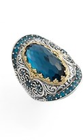 Konstantino Women's 'Thalassa' Blue Topaz Ring
