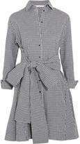 Maje Tie-front Gingham Cotton Mini Dress - 2