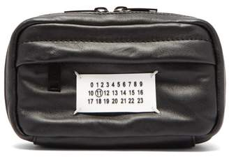 Maison Margiela Logo Plaque Leather Belt Bag - Mens - Black