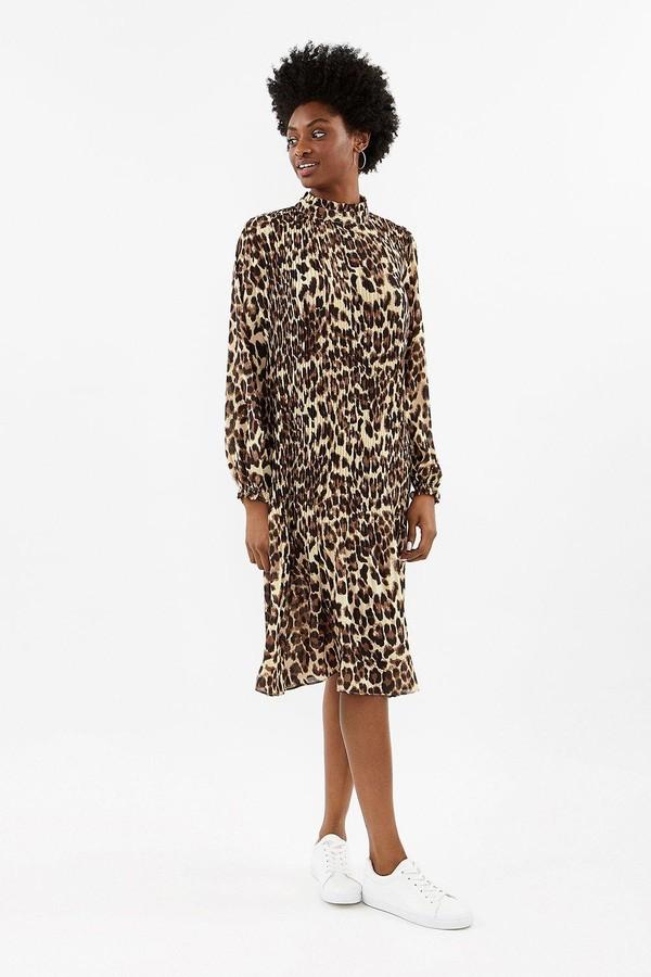 Coast Animal Pleated Midi Dress
