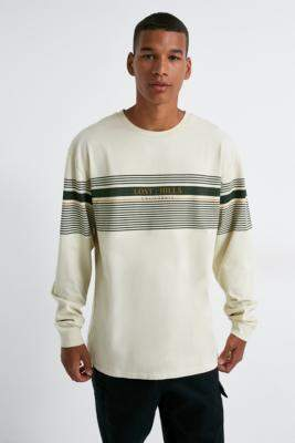 Urban Outfitters Placement Stripe Long-Sleeve T-Shirt - beige S at
