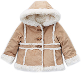 Pacific Trail Tan Faux Suede Peacoat - Toddler & Girls