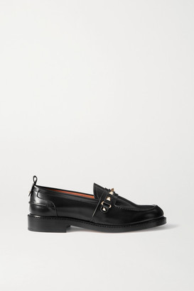 Valentino Garavani Rockstud Leather Loafers - Black