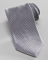 Armani Collezioni Diamond-Pattern Silk Tie, Navy