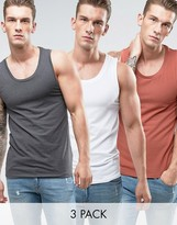 Asos Muscle Fit Tank 3 Pack SAVE