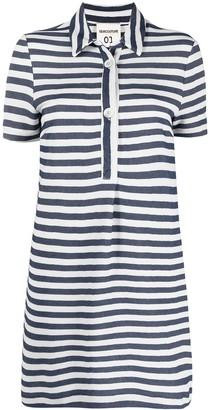 Semi-Couture Valerie striped polo dress