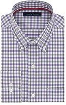 Tommy Hilfiger Men's Non Iron Regular Fit Large Tattersall Buttondown Collar Dress Shirt