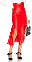 Monse for FWRD Leather Skirt in Red.