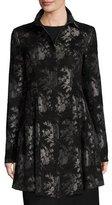Nanette Lepore Floral Sublime Brocade Coat, Black