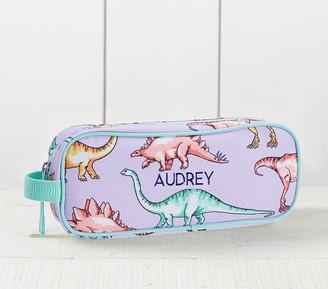 Pottery Barn Kids Mackenzie Lavender Multi Dinosaur Pencil Case