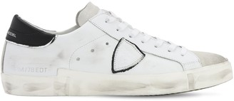 Philippe Model PARIS LEATHER & SUEDE SNEAKERS