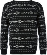 Lanvin arrow intarsia knit - men - Wool - S