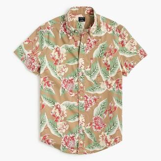 J.Crew Short-sleeve printed slim casual shirt
