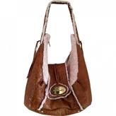 Max Mara Brown Patent leather Handbag