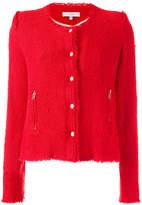 IRO zip pocket tweed jacket