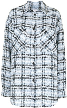 Faith Connexion Plaid Tweed Shirt