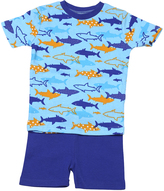 New Jammies Blue Sharks Organic Shorts Pajama Set - Infant