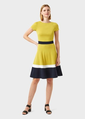 Hobbs Seasalter Jersey Fit And Flare Dress