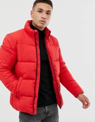 Jack and Jones Originals puffer jacket in red