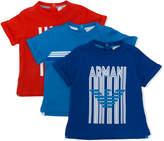 Armani Junior logo print T-shirt set