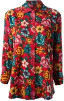 Kenzo Vintage floral print blouse and skirt ensemble