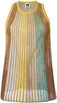 M Missoni multi metallic stripe knit