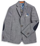 Tallia Orange BOYS 8-20 Boys Textured Two Button Blazer