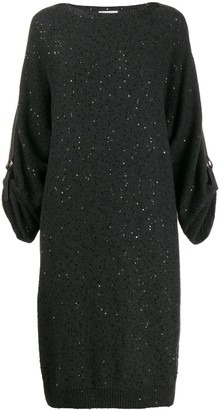Brunello Cucinelli Sequinned Knit Dress