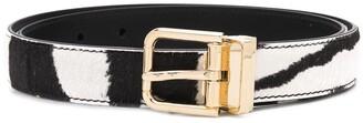 Dolce & Gabbana Zebra Pattern Buckle Belt
