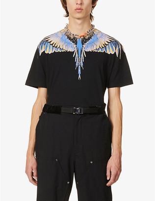 Marcelo Burlon County of Milan Wings graphic-print cotton-jersey T-shirt