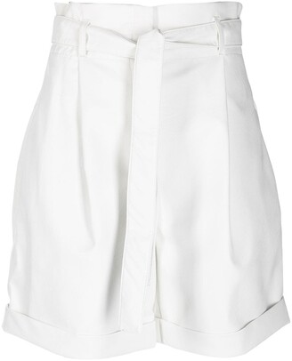 Philosophy di Lorenzo Serafini High-Waisted Belted Shorts