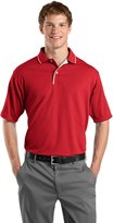 Sport-Tek Men's Dri Mesh Polo with Tipped Collar and Piping XL Red/White