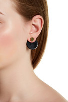 Botkier Front to Back Disk Stud Earrings