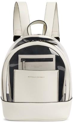 BRUNELLO CUCINELLI KIDS Perspex-Panel Backpack