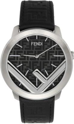 Fendi Black and Silver Run Away F is Watch