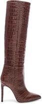 Paris Texas Stiletto Knee High Boot in Brown Croc   FWRD