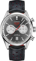 Tag Heuer CV5110FC6310 Carrera Calibre 17 stainless steel and leather automatic watch