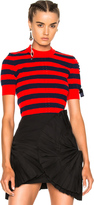 Fendi Striped Short Sleeve Sweater