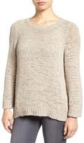 Eileen Fisher Rustic Open Stitch Crewneck Sweater