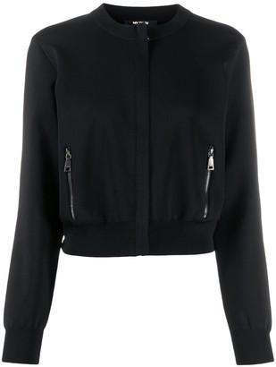 Twin-Set Round Neck Zip-Up Jacket
