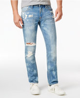 GUESS Men's Slim-Straight Ripped Jeans