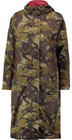 GANNI Camouflage-Print Shell Hooded Coat