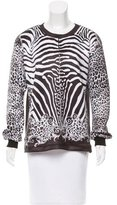 Balmain Animal Print Neoprene Sweatshirt