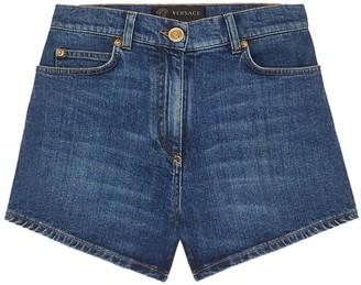 Versace Medium Blue Denim Shorts